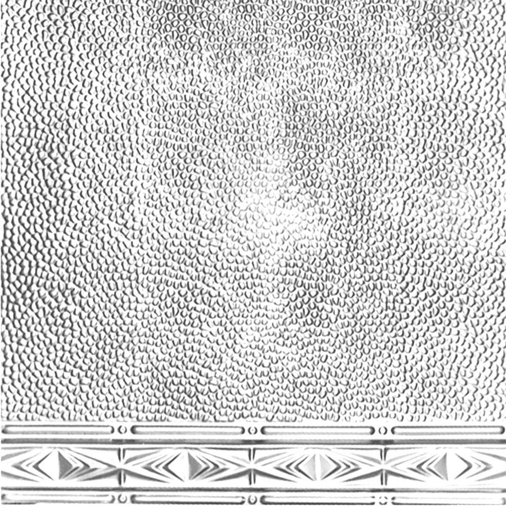 Plaque murale moulurée en acier plaqué chrome pour installation clouée, 2 pi x 4 pi avec moulure ...