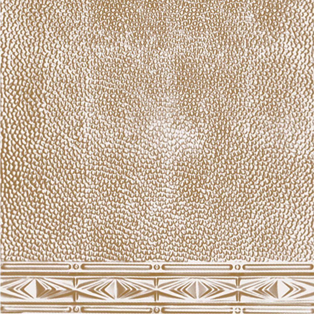 Plaque murale moulurée en acier plaqué laiton pour installation clouée, 2 pi x 4 pi avec moulure ...