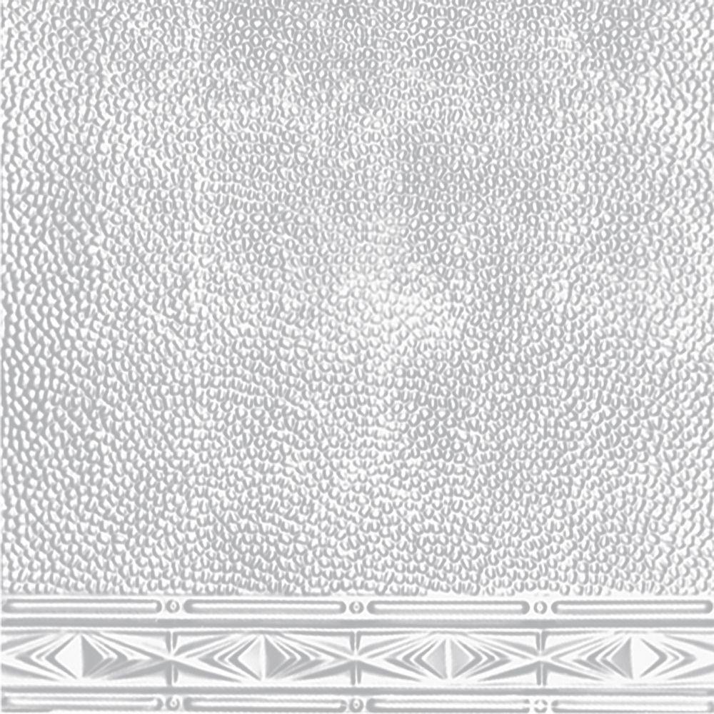 Plaque murale moulurée en acier blanchi pour installation clouée, 2 pi x 4 pi avec moulure de 3 p...