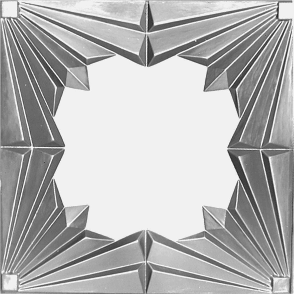 2 Feet x 4 Feet Steel Silver Nail-Up Molded Filler w/ 3 inch Molding #909