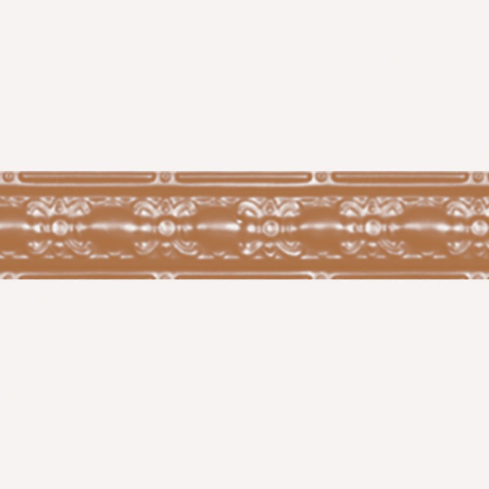 Copper Plated Steel Cornice 4  Inches  x 4 Feet Long