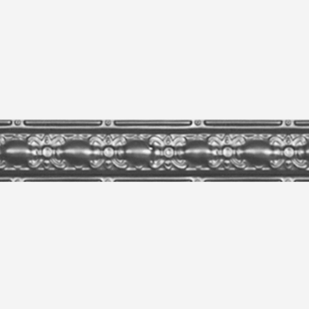 Steel Silver Finish Cornice 4  Inches  x 4 Feet Long