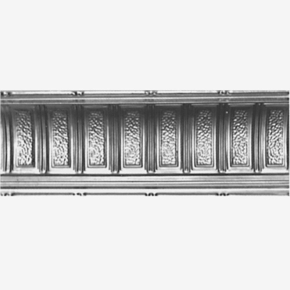 Steel Silver Finish Cornice 6  Inches  Projection x 6  Inches  Deep x 4 Feet Long