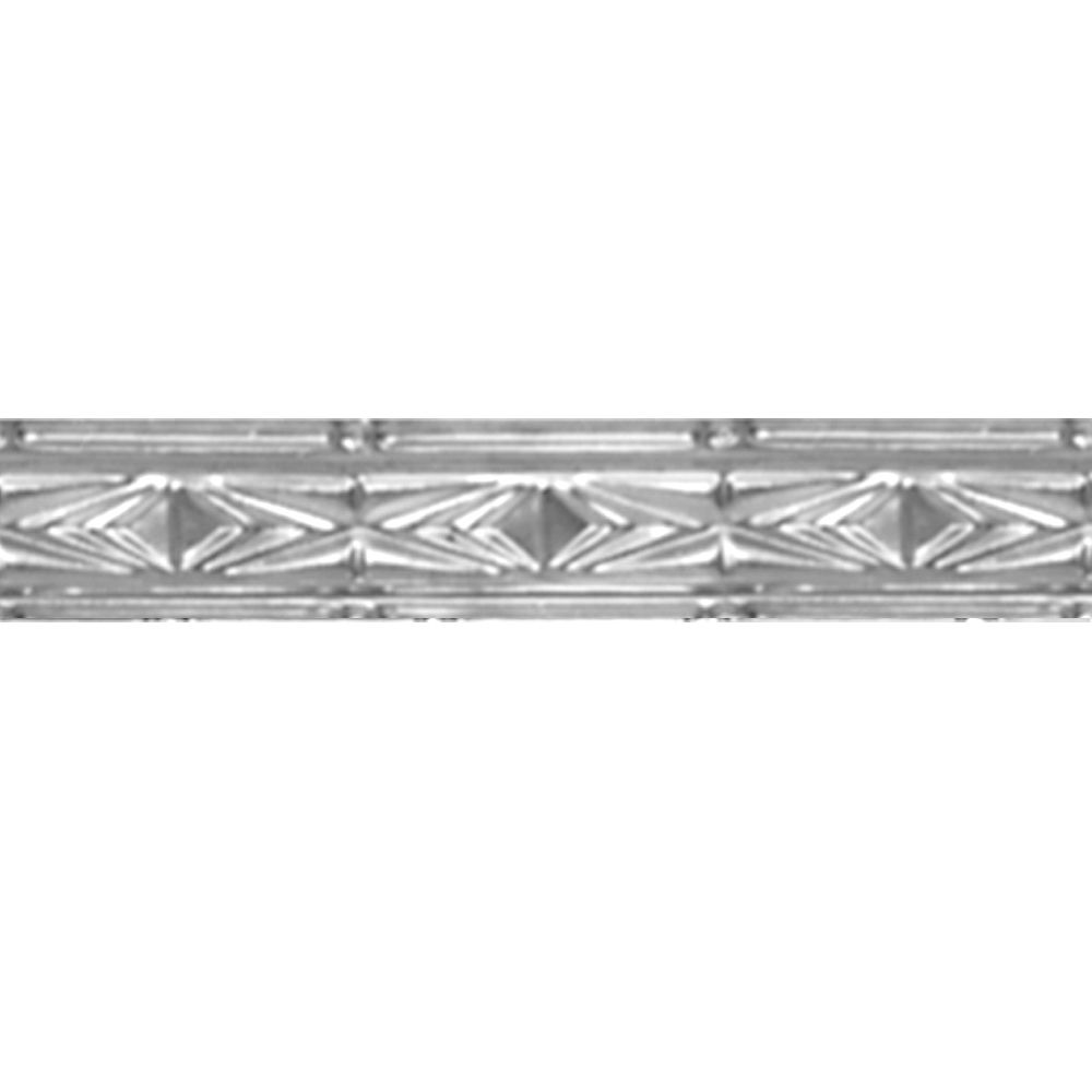 Chrome Plated Steel Cornice 3  Inches  x 4 Feet Long
