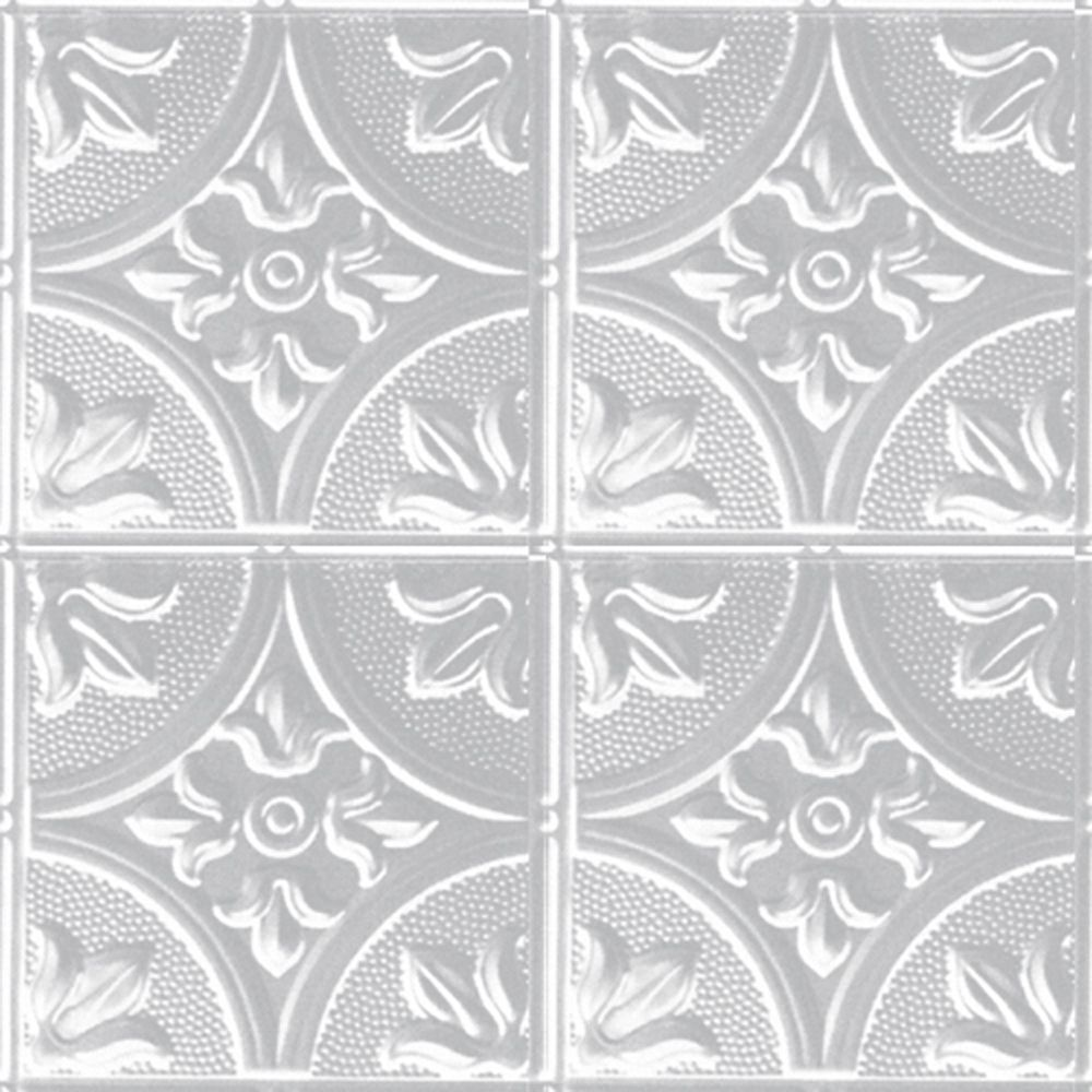 2 Feet x 4 Feet White Finish Steel Nail-Up Ceiling Tile Design Repeat Every 12 Inches W309 4 Canada Discount