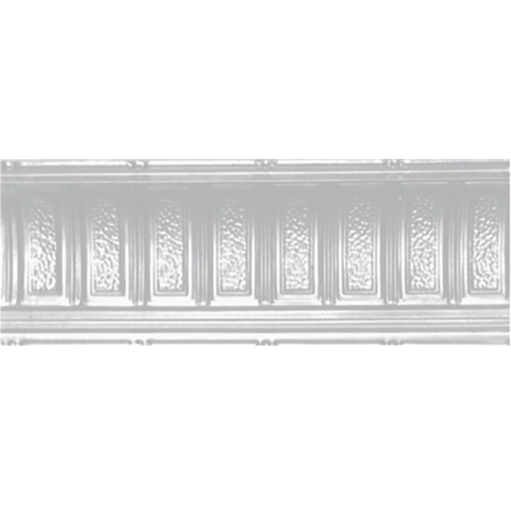 White Finish Steel Cornice 6  Inches  Projection x 6  Inches  Deep x 4 Feet Long