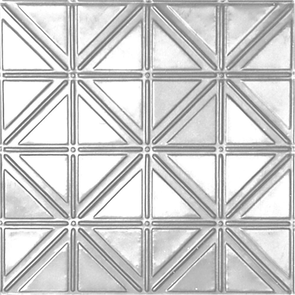 2 Feet x 2 Feet Chrome Plated Steel Lay-In Ceiling Tile Design Repeat Every 6 Inches CH215 2 in Canada
