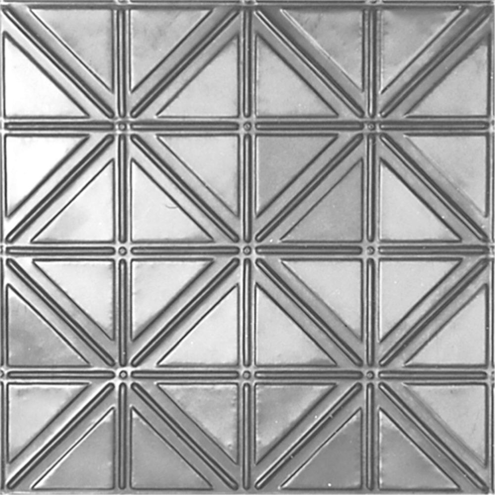 2Feet X 2Feet Steel Silver Lay-In Ceiling Tile Design Repeat Every 6 Inches
