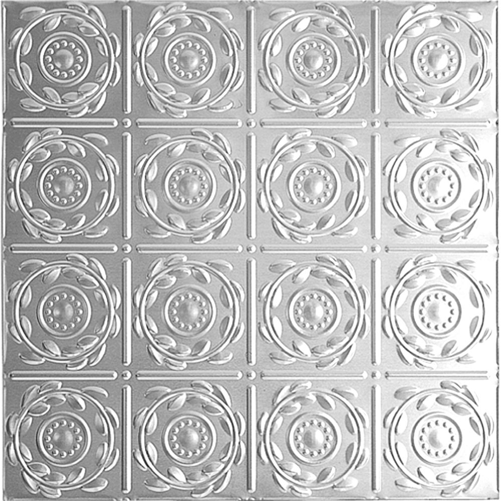 2 Feet x 2 Feet Lacquer Finish Steel Lay-In Ceiling Tile Design Repeat Every 6 Inches