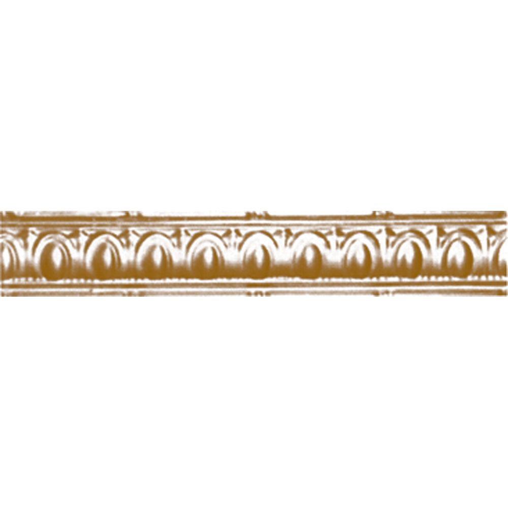 Brass Plated Steel Cornice 3.5 Inches Projection x 3.5 Inches Deep x 4 Feet Long
