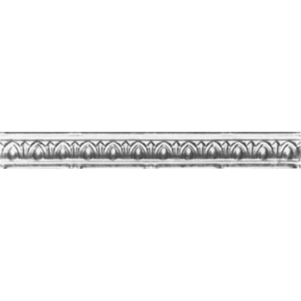 Steel Silver Finish Cornice 2 Inches Projection x 2 Inches Deep x 4 Feet Long