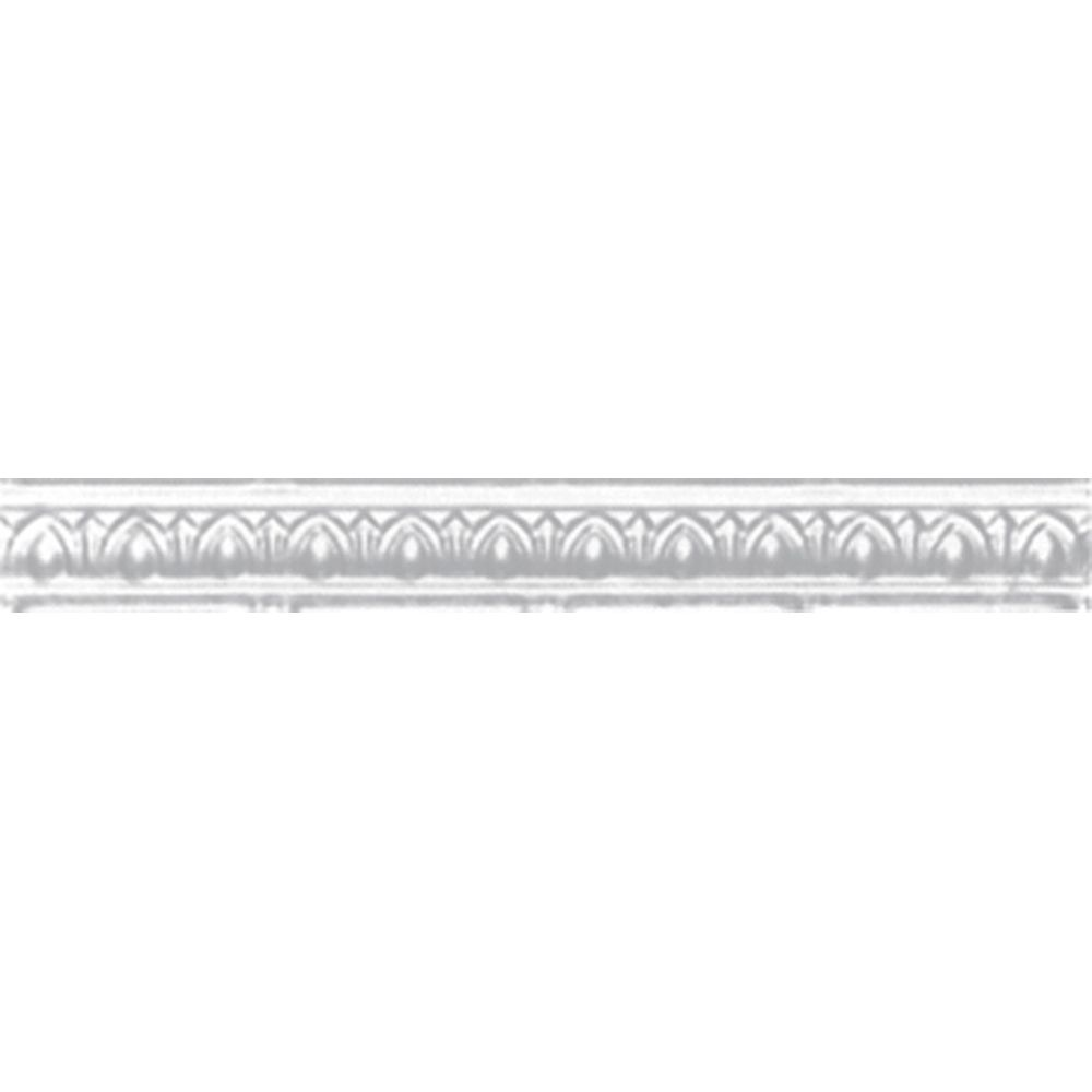 White Silver Finish Cornice 2 Inches Projection x 2 Inches Deep x 4 Feet Long