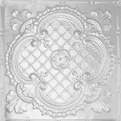 Shanko Carreau de plafond en acier blanchi à motif répété aux 24 pouces et installation clouée 2 pi x 4 pi