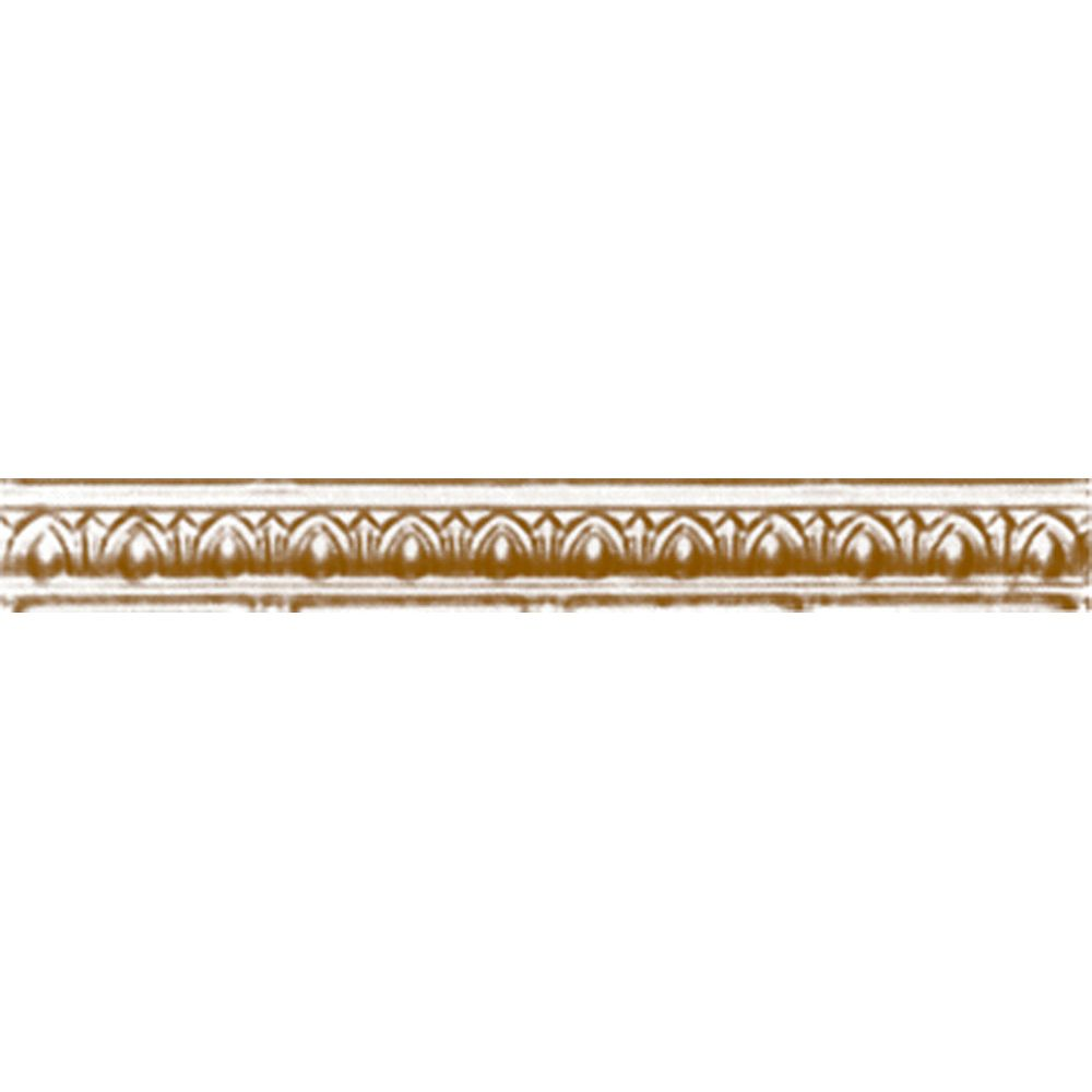 Brass Plated Steel Cornice 2 Inches Projection x 2 Inches Deep x 4 Feet Long