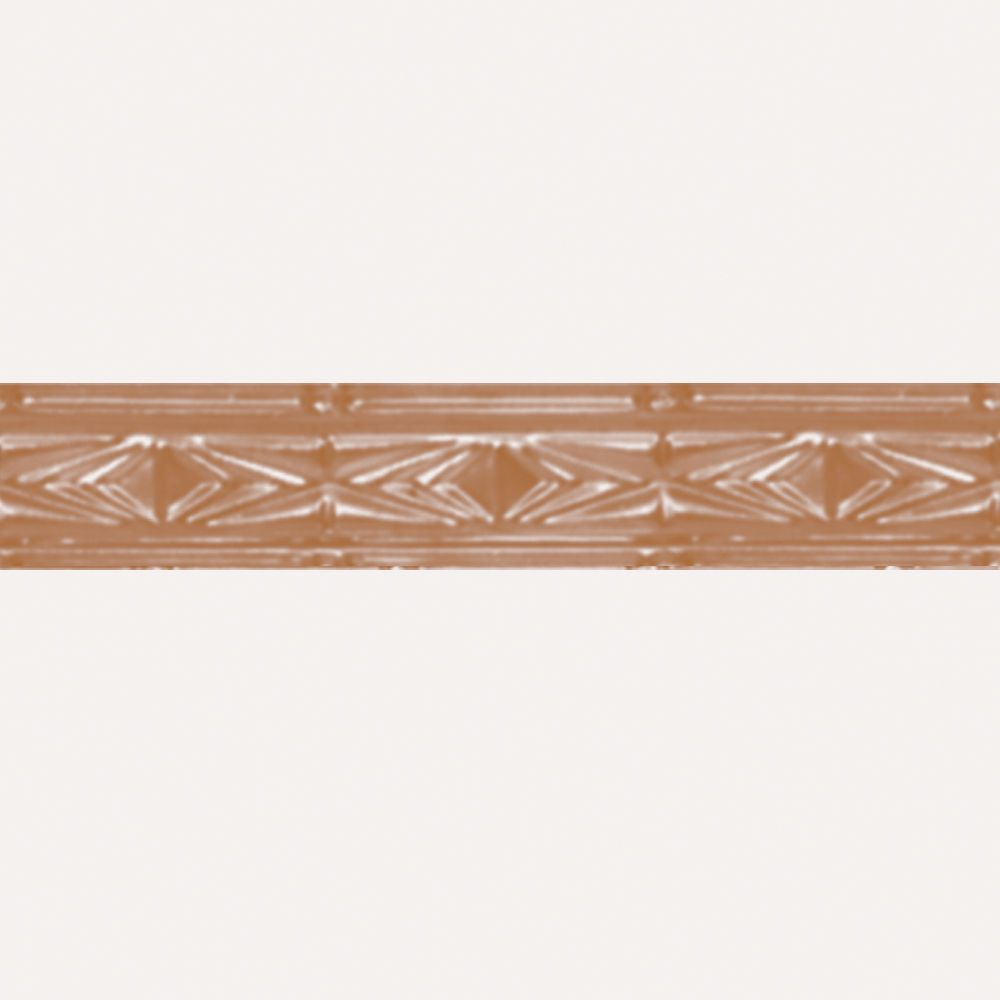 Copper Plated Steel Cornice 3  Inches  x 4 Feet Long