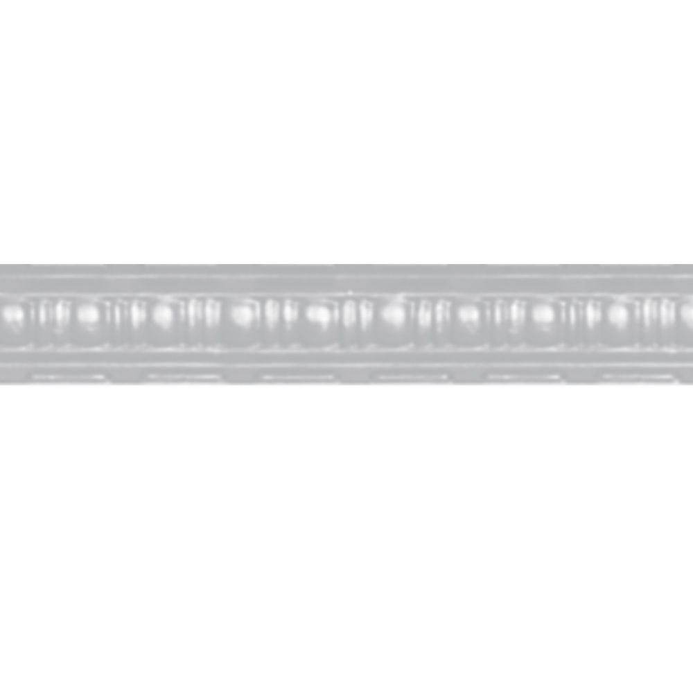 White Finish Steel Cornice 2.5  Inches  Projection x 2.5  Inches  Deep x 4 Feet Long