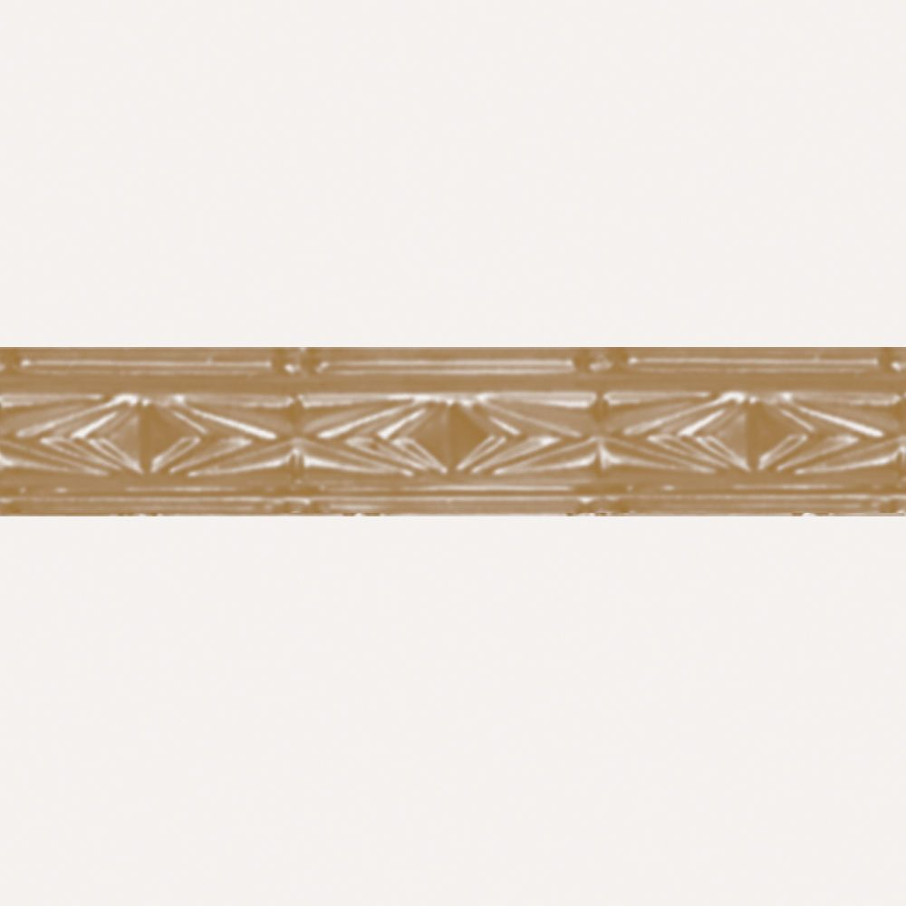 Brass Plated Steel Cornice 3  Inches  x 4 Feet Long