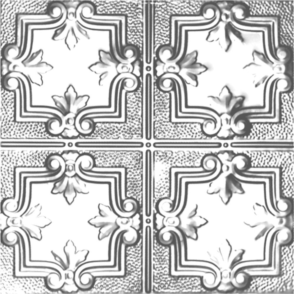 Carreau de plafond en acier plaqué chrome à motif répété aux 12 pouces et installation clouée 2 p...