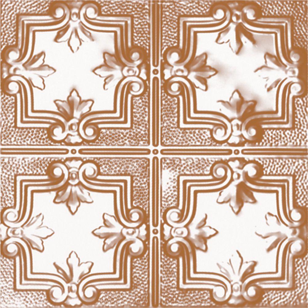 Carreau de plafond en acier plaqué cuivre à motif répété aux 12 pouces et installation encastrée ...