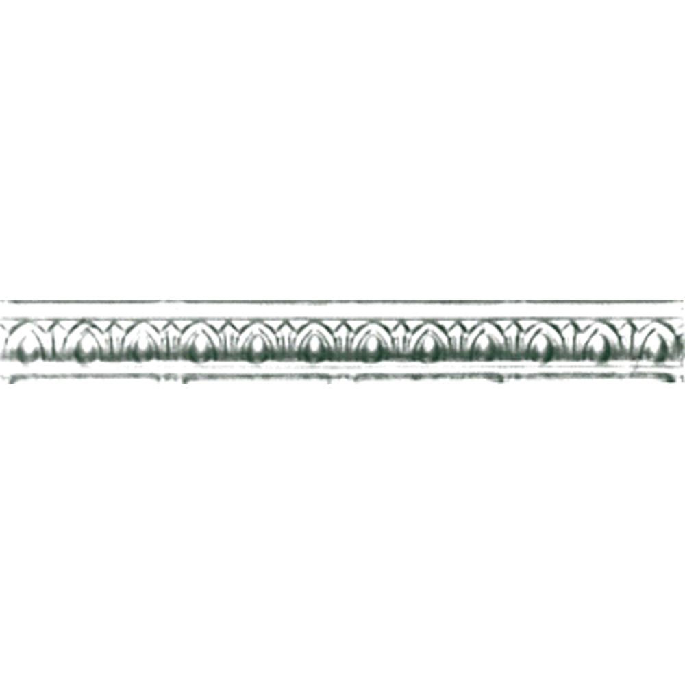 Chrome Plated Steel Cornice 2 Inches Projection x 2 Inches Deep x 4 Feet Long