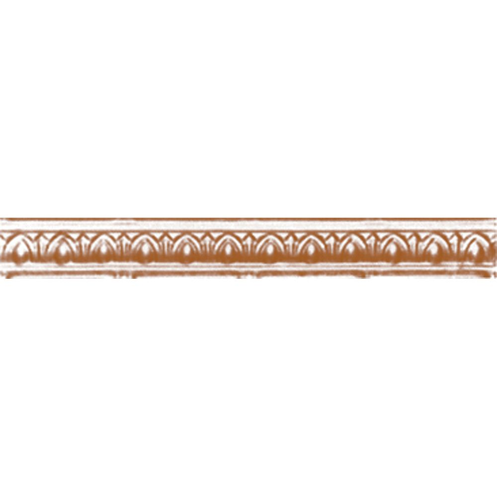 Copper Plated Steel Cornice 2 Inches Projection x 2 Inches Deep x 4 Feet Long
