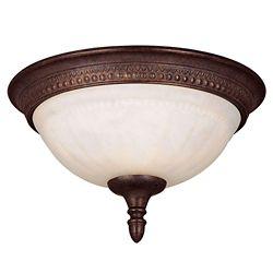Illumine Satin 1 Light Bronze Incandescent Flush Mount With White Glass