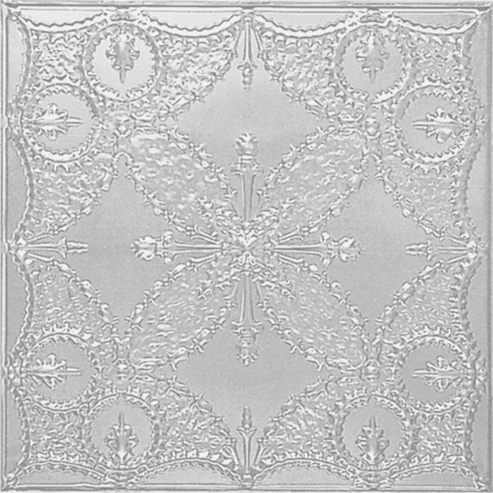 2 Feet x 4 Feet White Finish Steel Nail-Up Ceiling Tile Design Repeat Every 24 Inches W535 4 in Canada