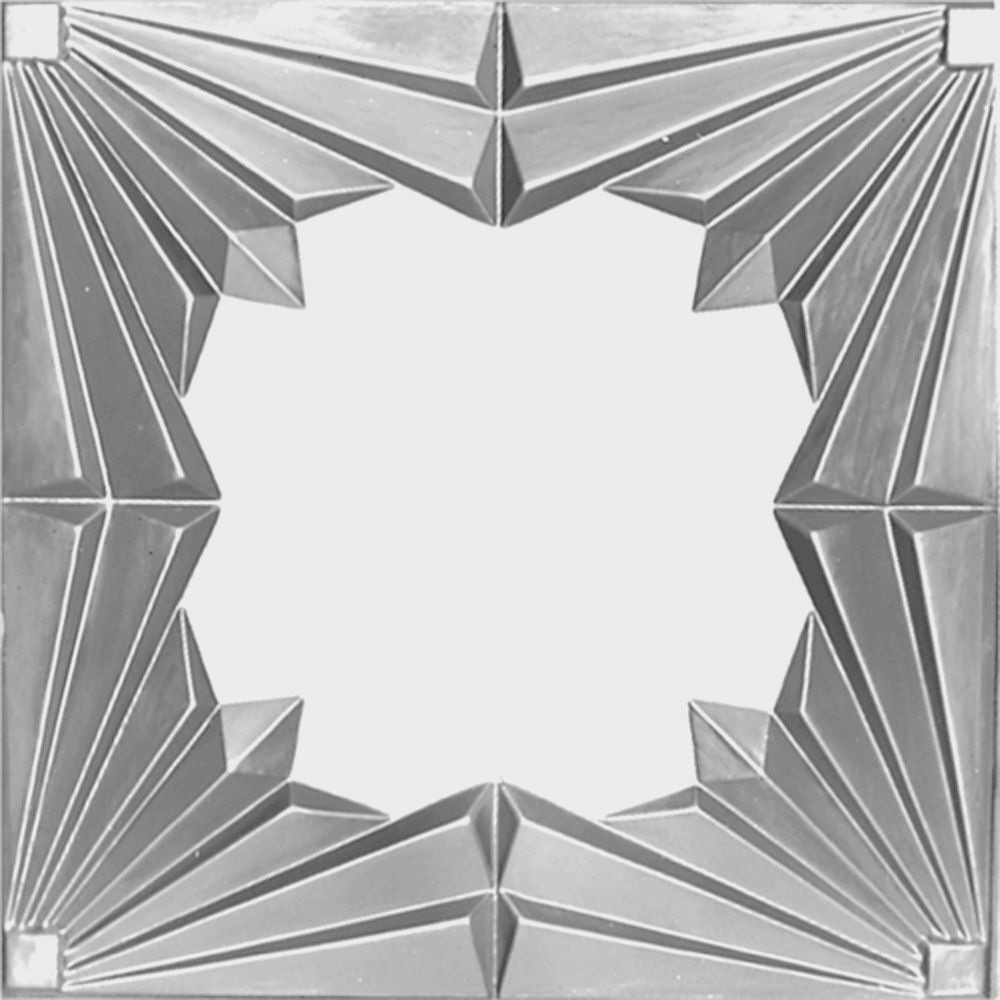 2 Feet x 4 Feet Lacquer Steel Finish Nail-Up Ceiling Tile Design Repeat Every 24 Inches LS507 4 in Canada