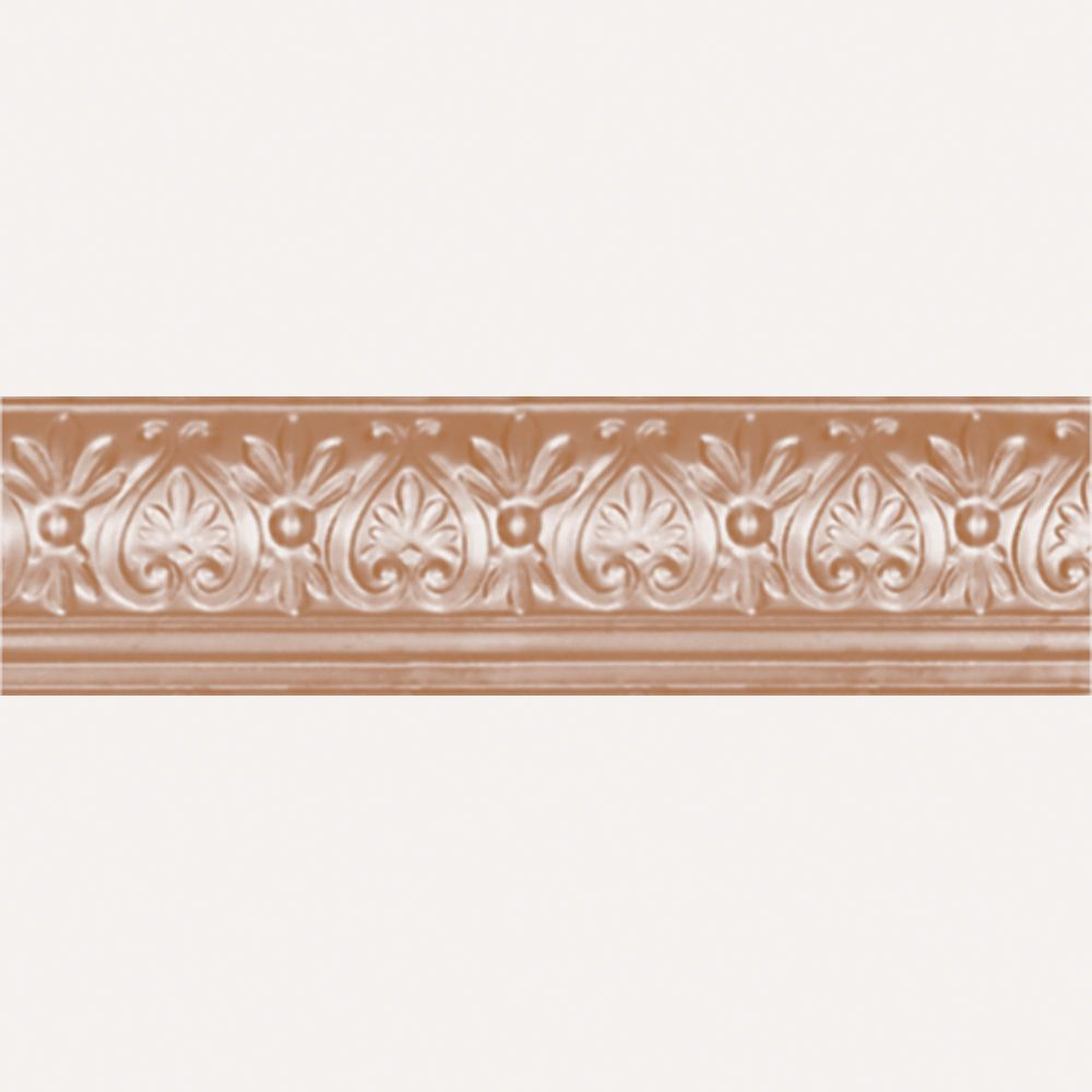 Copper Plated Steel Cornice 6.25  Inches  Projection x 6 5/8  Inches  Deep x 4 Feet Long