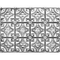 Shanko 18.5 Inches x 48.5 Inches Stainless Steel Nail-Up Ceiling Tile Design Repeat Every 6 Inches