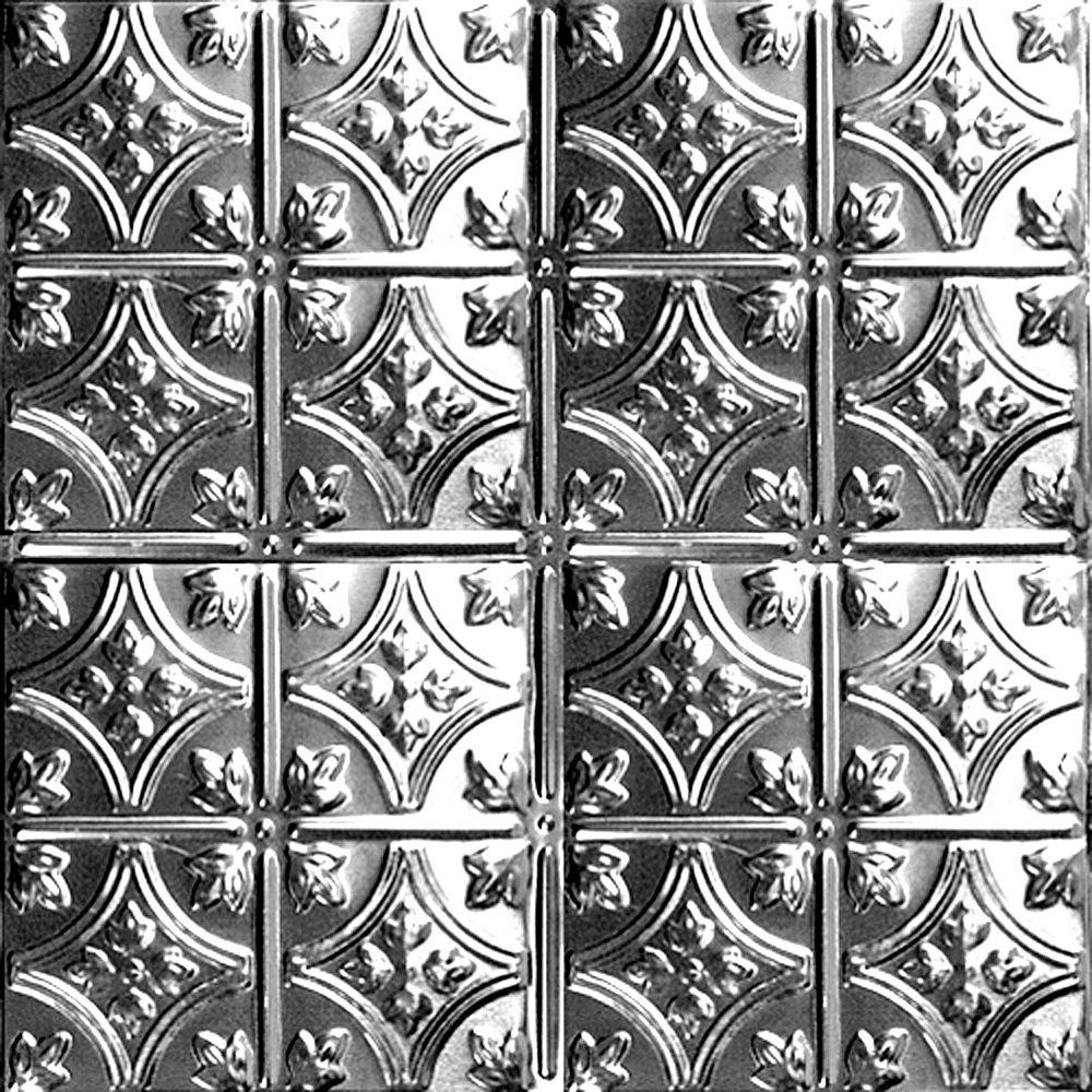 2 Feet x 4 Feet Lacquer Finish Steel Nail-Up Ceiling Tile Design Repeat Every 6 Inches