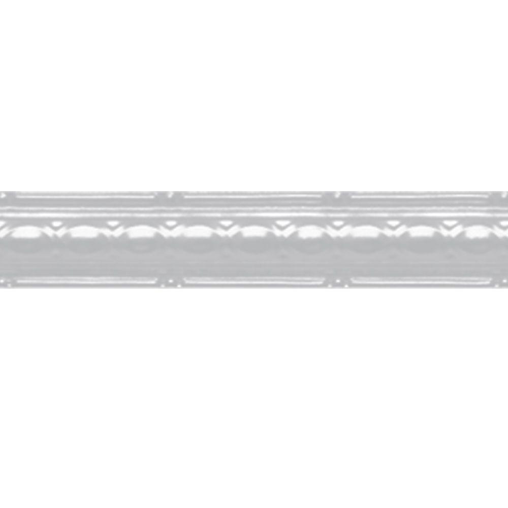 White Finish Steel Cornice 2.5  Inches  x 4 Feet Long
