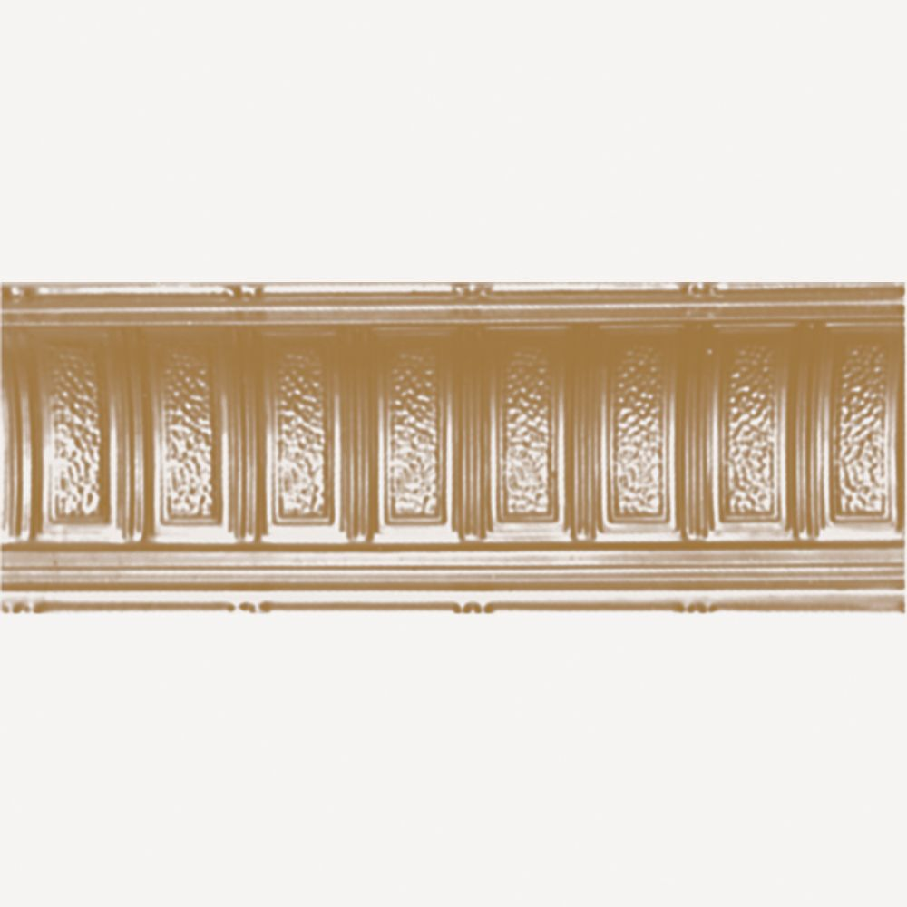 Brass Plated Steel Cornice 6  Inches  Projection x 6  Inches  Deep x 4 Feet Long