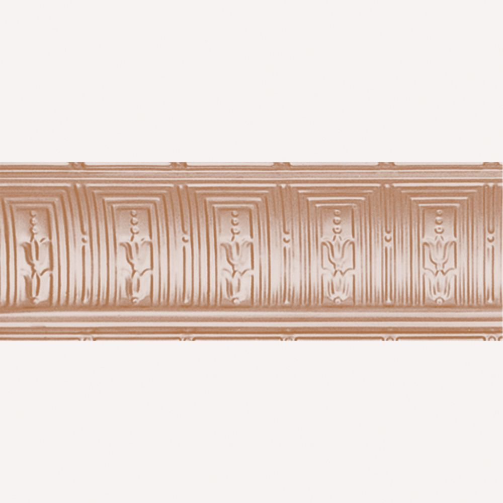 Copper Plated Steel Cornice 8-3/4  Inches  Projection x 8-3/4  Inches  Deep x 4 Feet Long