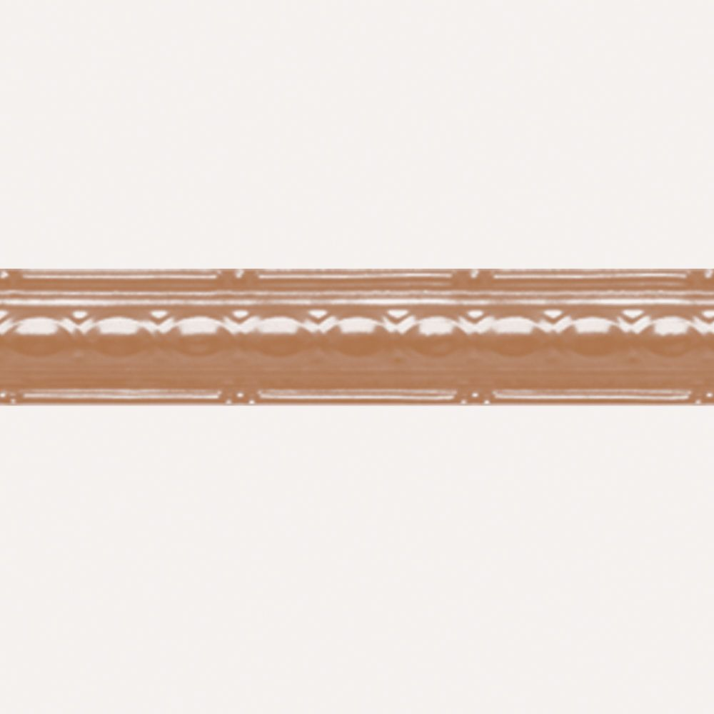Copper Plated Steel Cornice 2.5 Inches x 4 Feet Long CO903 in Canada