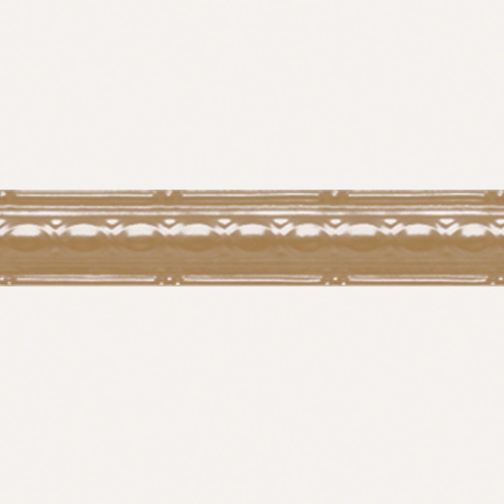Brass Plated Steel Cornice 2.5  Inches  x 4 Feet Long