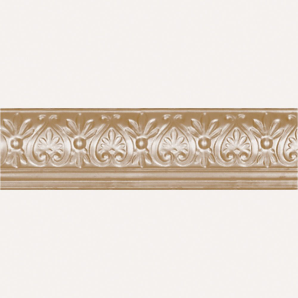 Brass Plated Steel Cornice 6.25  Inches  Projection x 6 5/8  Inches  Deep x 4 Feet Long