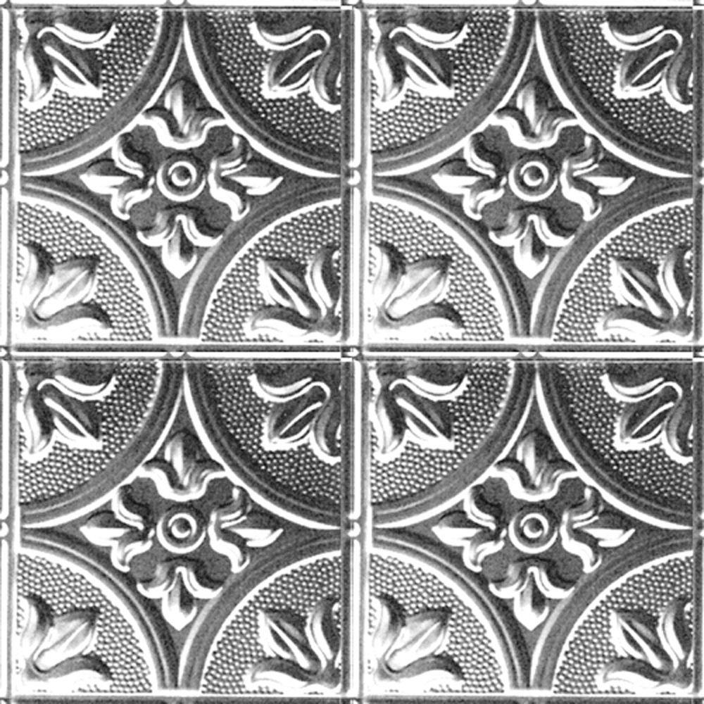 Carreau de plafond en acier laqué à motif répété aux 12 pouces et installation clouée 2 pi x 4 pi