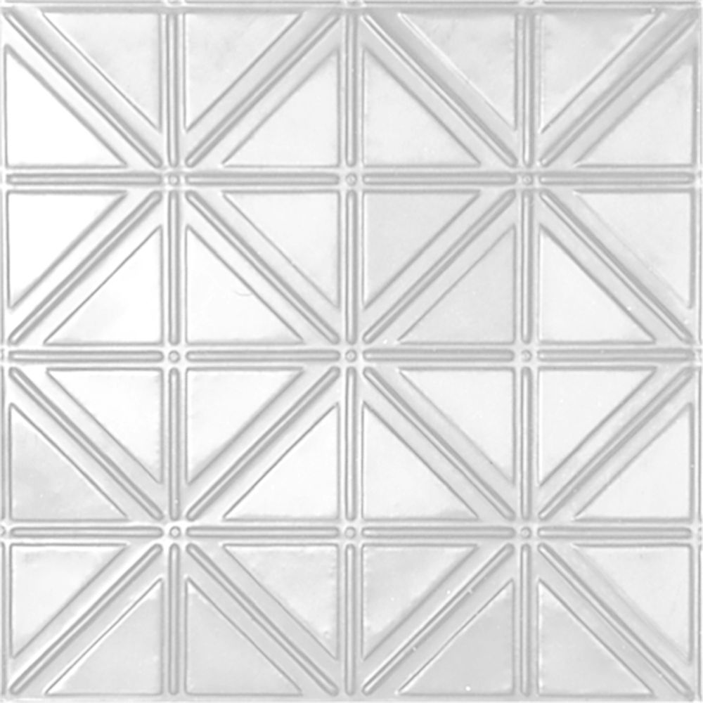 2 Feet X 4 White Finish Steel Nail Up Ceiling Tile Design Repeat Every 6 Inches