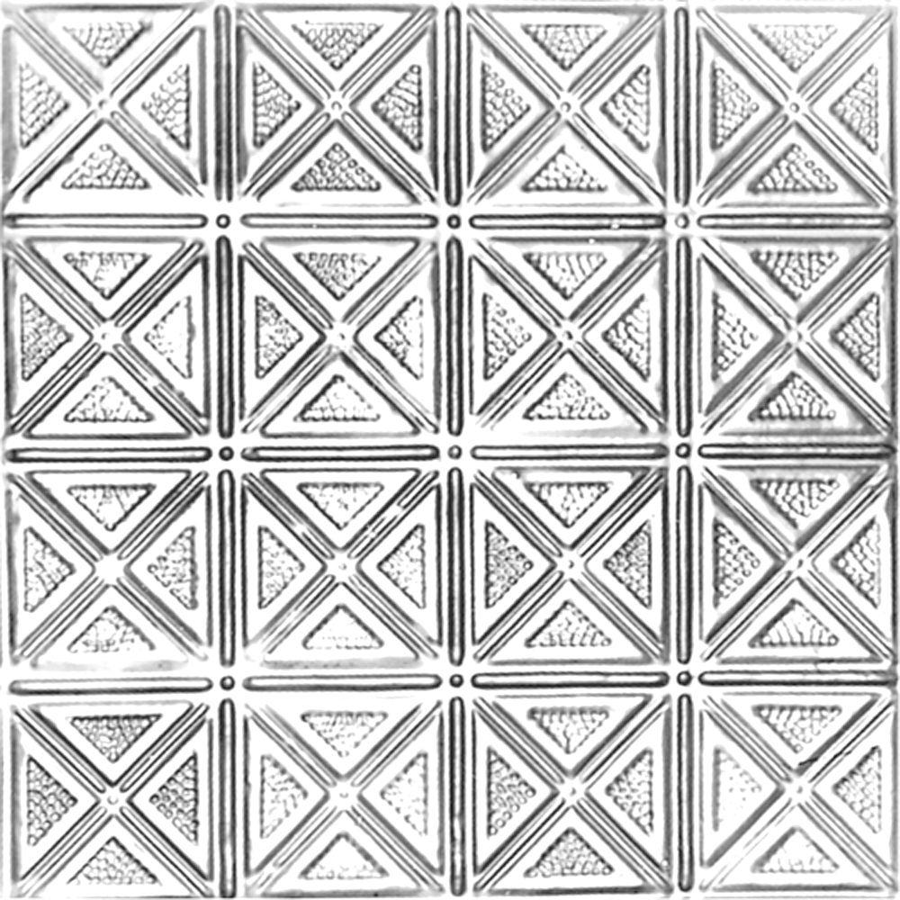Carreau de plafond en acier laqué à motif répété aux 6 pouces et installation encastrée 2 pi x 2 ...