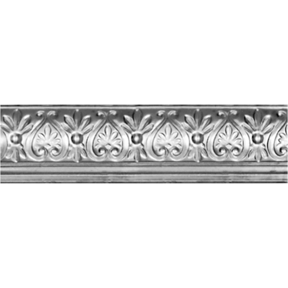 Lacquer Finish Steel Cornice 6.25  Inches  Projection x 6 5/8  Inches  Deep x 4 Feet Long