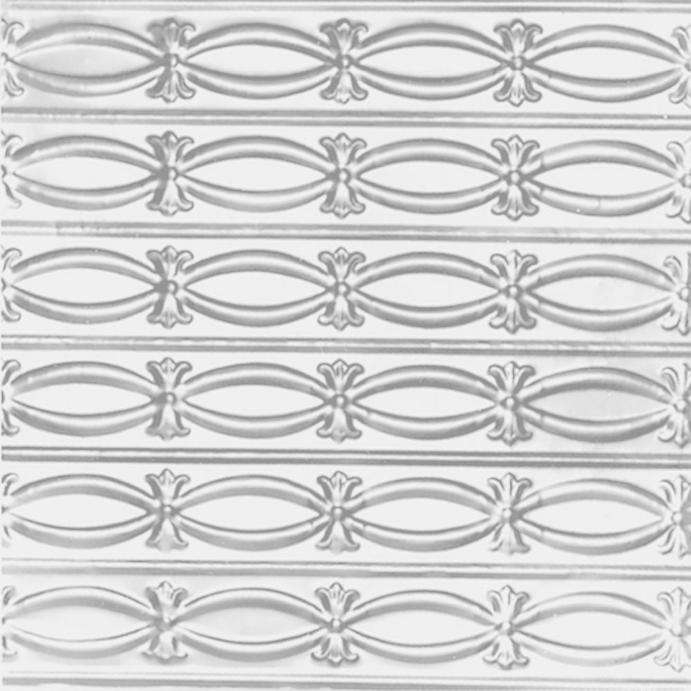 Carreau de plafond en acier blanchi à plaque estampée et installation clouée 2pi x 4pi