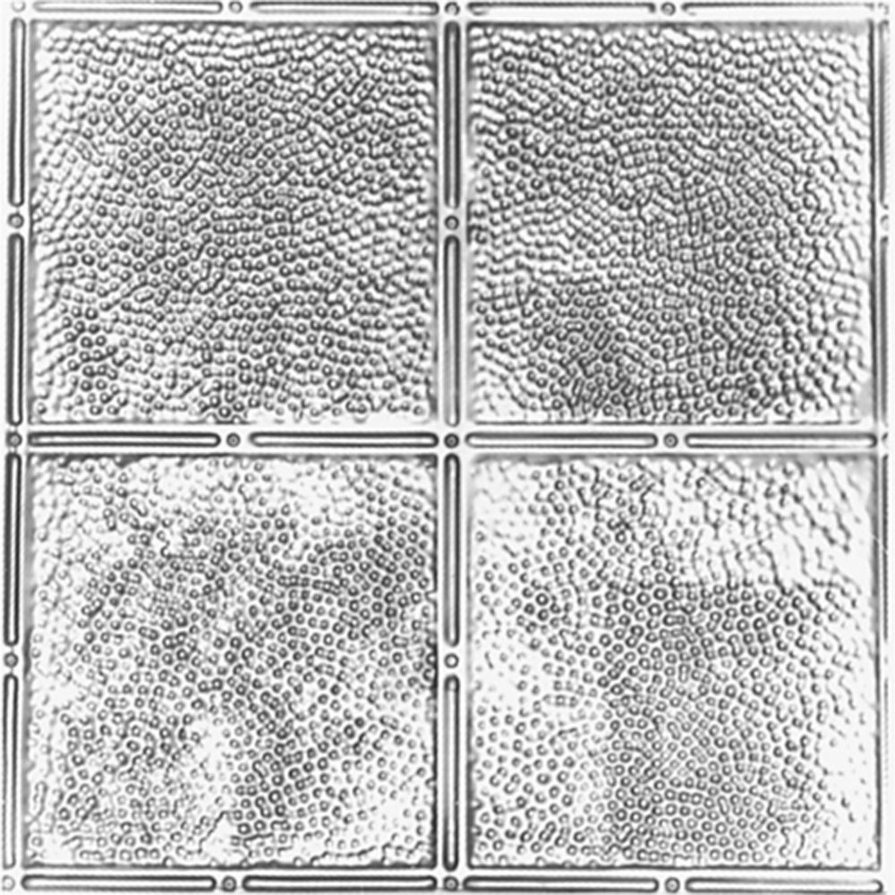 shanko 2feet x 4feet steel silver nail up ceiling tile design repeat every 12 inches the home