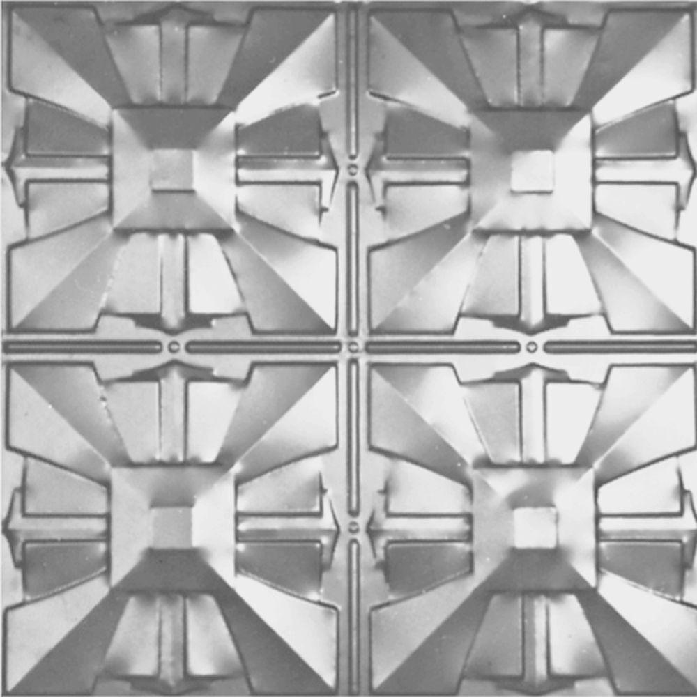 Carreau de plafond en acier laqué à motif répété aux 12 pouces et installation encastrée 2pi x 2...