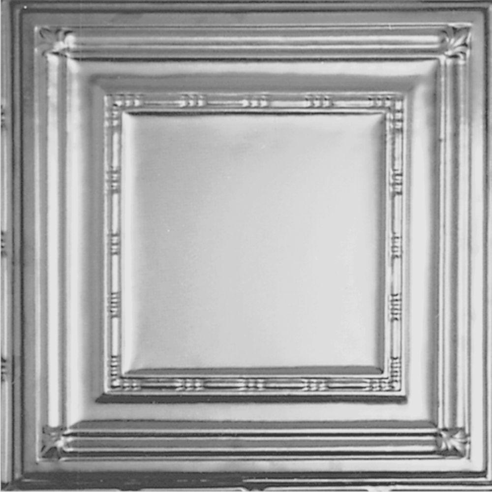 Carreau de plafond en acier laqué à motif répété aux 24 pouces et installation encastrée 2pi x 2...