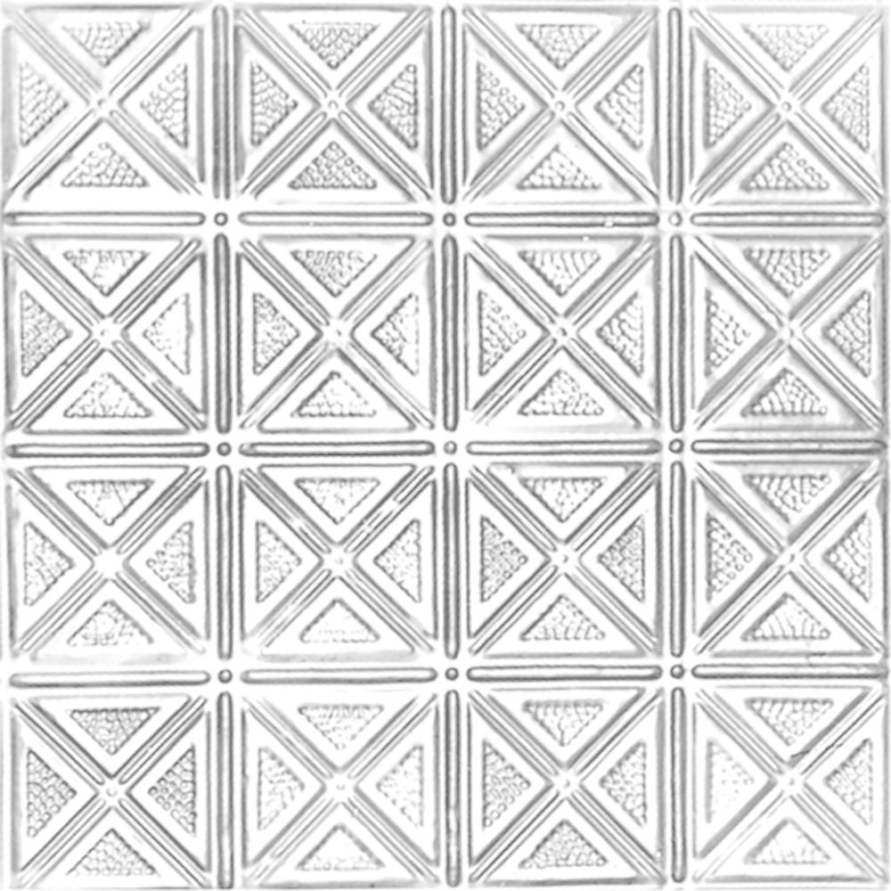2 Feet x 2 Feet White Finish Steel Lay-In Ceiling Tile Design Repeat Every 6 Inches W205 2 in Canada