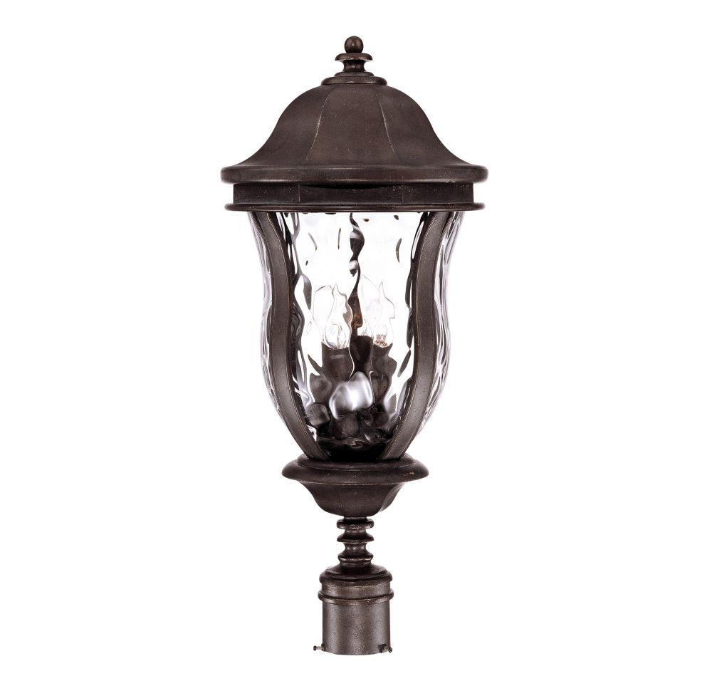 Illumine Satin 4 Light Bronze Halogen Outdoor Post Lantern With Clear Glass