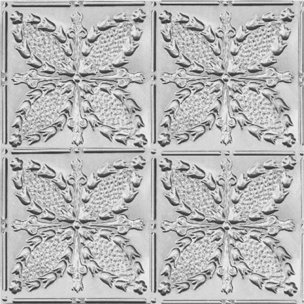 2 Feet x 4 Feet Lacquer Steel Finish Nail-Up Ceiling Tile Design Repeat Every 12 Inches