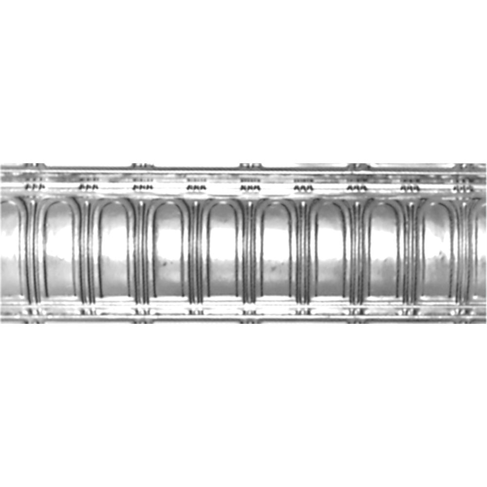 Chrome Plated Steel Cornice 6  Inches  Projection x 6  Inches  Deep x 4 Feet Long