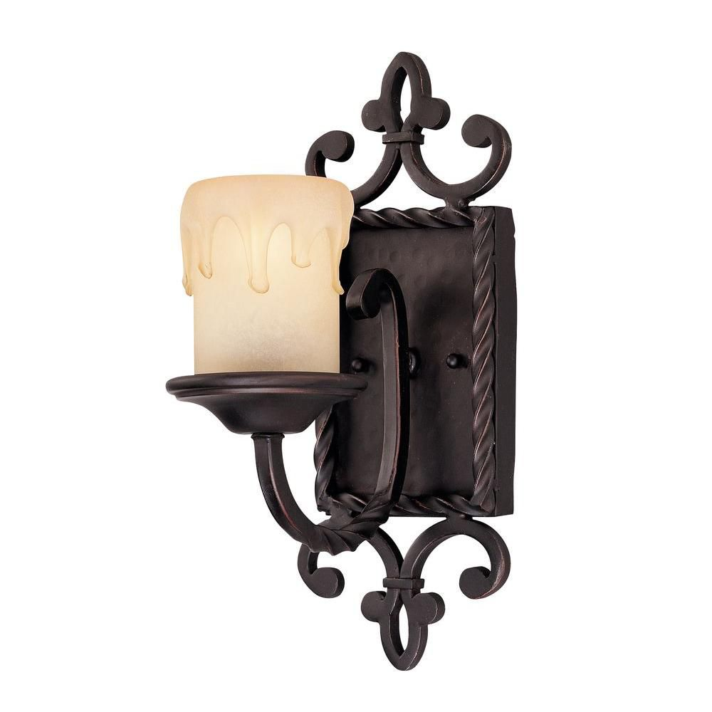 Satin 1 Light Black Incandescent Wall Sconce With White Glass